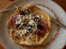 Pfannkuchen Pizza Style - Rezept