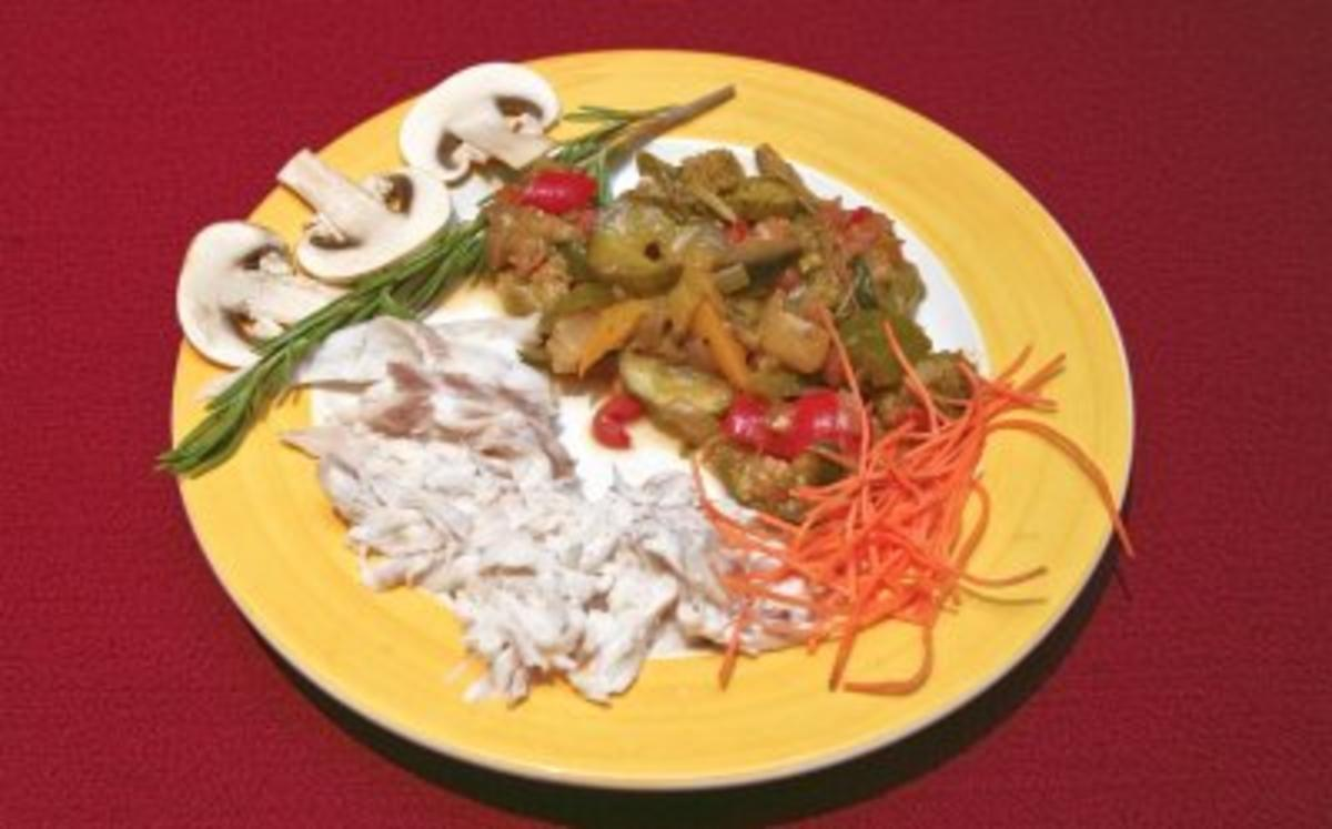 Loup de mer in Himalaya-Salzkruste mit Ratatouille (Katja Ebstein) - Rezept By Das perfekte Promi Dinner
