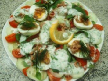 Herbstsalat mit Krabben - Rezept
