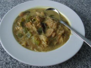 Chinesische Suppe mit Kokosmilch - Rezept