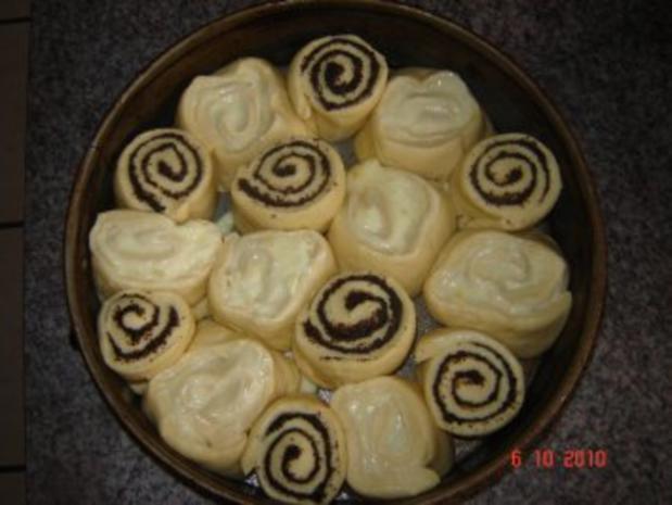 Kuchen + Torten : Hefe-Schneckenkuchen mit 2 Füllungen - Rezept - Bild Nr. 5