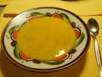 Kürbis-Hackfleisch-Cremesuppe - Rezept