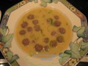 Suppe - Lauchcreme mit Bällen - Rezept