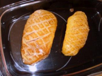 Honig-Entenbrust m. Mango-Chilli Kompott - Rezept