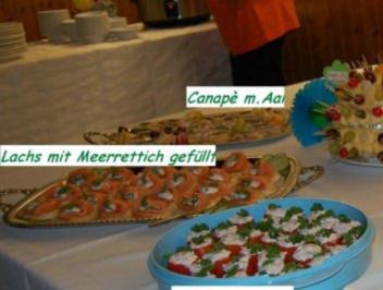 Party/Fete:   CANAPÈS mit FISCH - Rezept