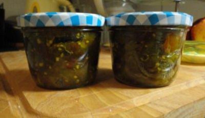 Chutney mit grünen Tomaten - Rezept