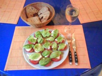 Salat: Tomaten-Mozarella-Salat - Rezept