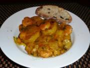 Kartoffelcurry mit Riesengarnelen - Rezept