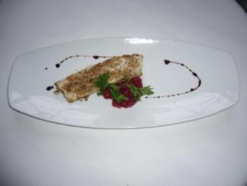 Forellenfilet in Nusskruste mit Cranberry-Chutney - Rezept