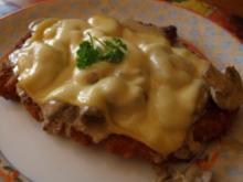 überbackenes Champignon-Schnitzel - Rezept