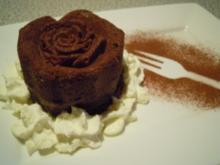 Bananen  Schokolade  Rosen - Rezept