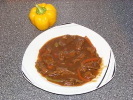 Rindfleisch mit Chili (sehr scharf) - Rezept