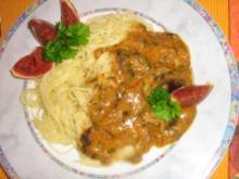 Scharfe Feigen-Gorgonzola Pasta - Rezept