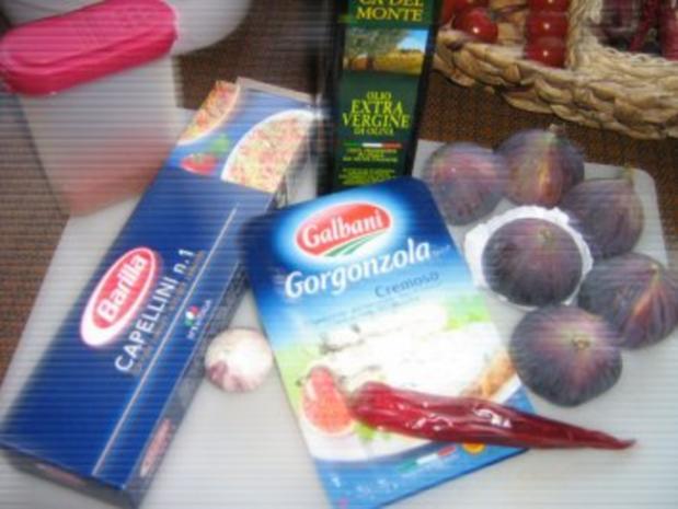 Scharfe Feigen-Gorgonzola Pasta - Rezept - Bild Nr. 2