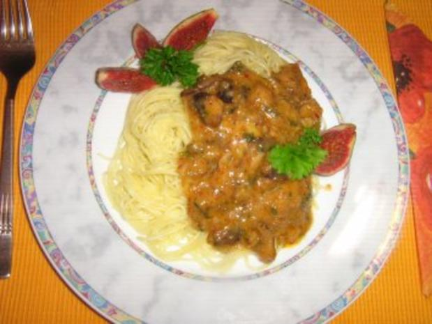 Scharfe Feigen-Gorgonzola Pasta - Rezept - Bild Nr. 7