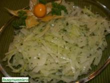 Salatbar:   WEIßKOHLSALAT - Rezept