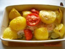 Lachs trifft Tomate im Ofen - Rezept