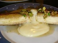 Gebratene Banane mit Honig und Vanillejoghurt - Rezept