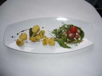 Basilikumgnocchi mit Salbeibutter - Rezept