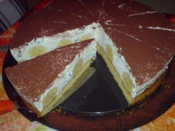 Bananen-Stracciatella-Torte - Rezept