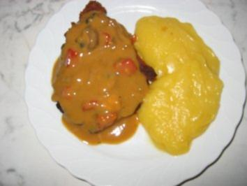 Schnitzel mit Schnelle Champignonssoße - Rezept