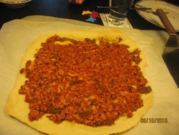 Türkische Pizza Vegetarisch, Vegan - Rezept