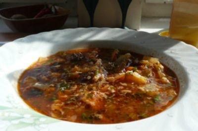 Suppe: Minestra  (reichhaltige Gemüsesuppe) - Rezept