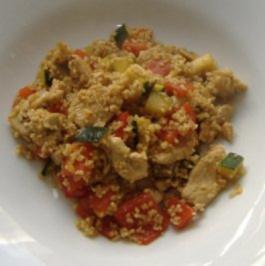 Bulgur-Pfanne mit Hühnchen und Gemüse - Rezept