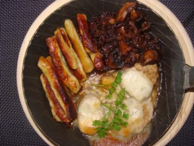 Fleisch :  -Filetpfännchen mit Käse überbacken- - Rezept