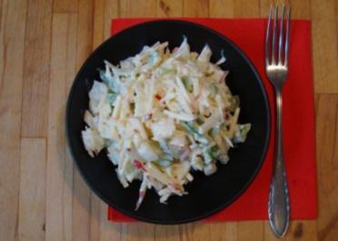 Zwiebel-Apfel-Paprikasalat - Rezept