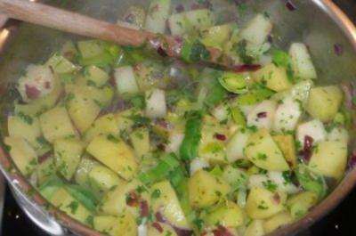 Gemüse: Rahm - Kräuterkartoffeln - Rezept