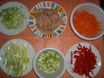 Wog - Pfanne -  (Deutsch . Chinesisch) - Wok - Pfanne - Rezept