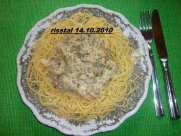 Spaghetti mit Apfel - Pilzsoße - Rezept