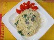 Spaghetti mit frischem Spinat... - Rezept