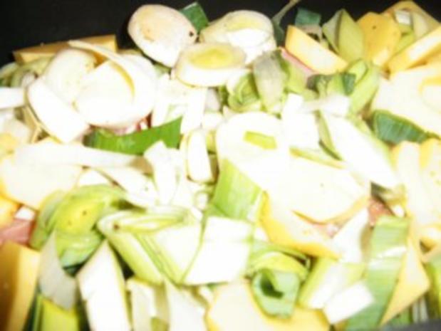 Kassler-Porree- Kartoffel-Pfanne - Rezept - Bild Nr. 6