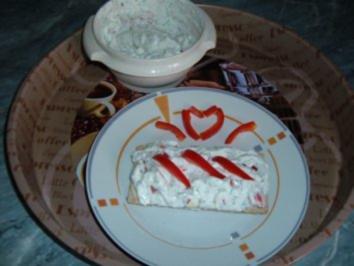Brotaufstrich - Quark mit Paprika - Rezept