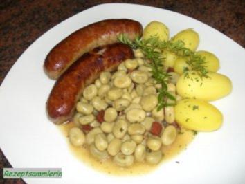 Gemüse:   JUNGE GROßE BOHNEN - Rezept