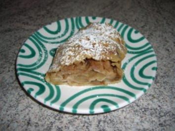 Gezogener Apfelstrudel - Rezept