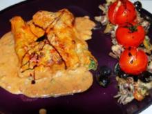 Spinat-Ricotta-Cannelloni in tomatisierter Roquefort-Bechamélsoße - Rezept
