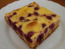 Saftiger Kirsch-Schmand-Kuchen vom Blech - Rezept