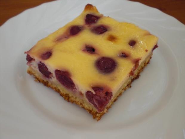 Saftiger Kirsch Schmand Kuchen Vom Blech Rezept Kochbar De