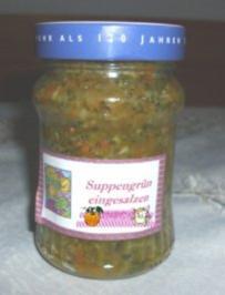 Suppengrün ( eingesalzen ) - Rezept
