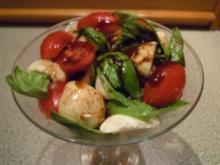 marinierte Mozzarella Babys mit Cherry Tomaten - Rezept