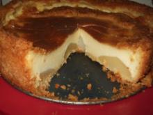 Puddingkuchen mit Birnen - Rezept