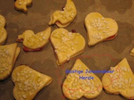 Weihnachtsplätzchen- Geistige Johannisbeer Herzle - Rezept