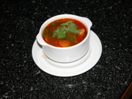 Tom Kha Gai(Hähnchen-Kokos-Suppe) - Rezept