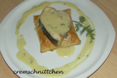 Schwertfisch an Senf - Dill - Soße - Rezept