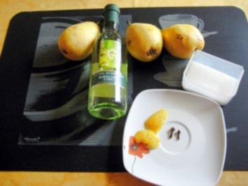 Birnen in Weißwein - Rezept