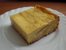 Apfelkuchen mit Marzipanpudding-Guss - Rezept
