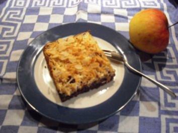Schoko-Apfelkuchen mit Rahmguss - Rezept